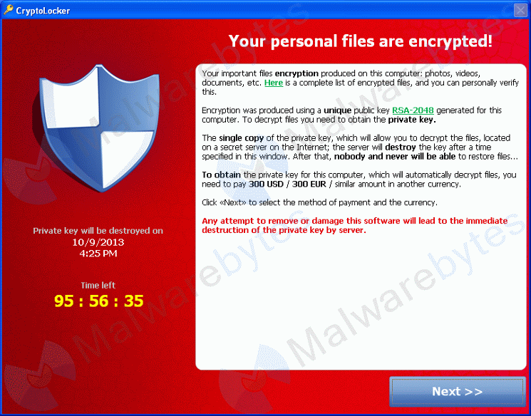 cryptolocker recovery and removal services