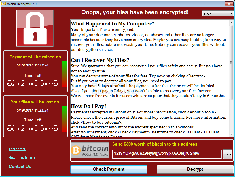 The Largest Cyber Attack Worldwide In History; WannaCry Ransomware