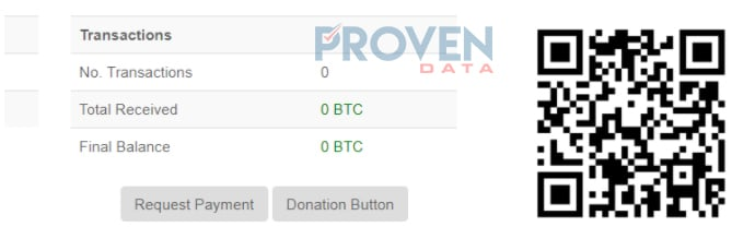 Cyber extortion Bitcoin wallet