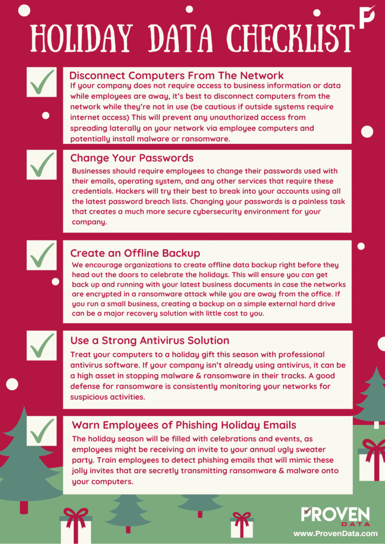 Holiday Data Checklist
