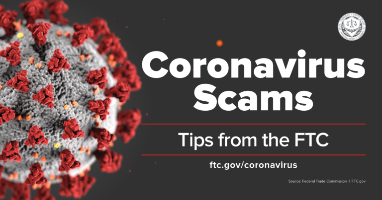 Coronavirus Scams, Tips from the FTC