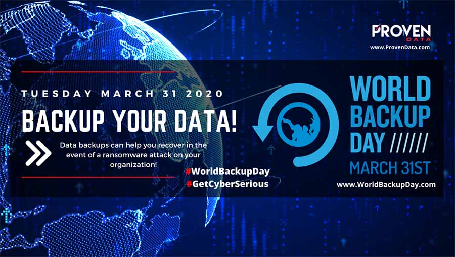 World Backup Day 2020 with Proven Data