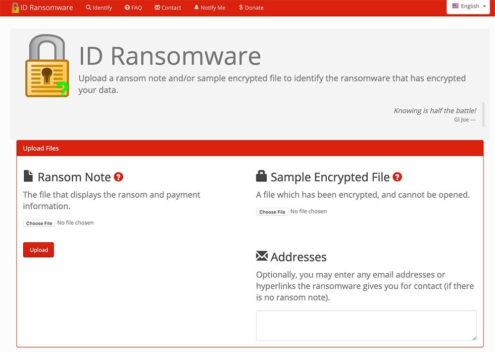 ID Ransomware Decryption Check