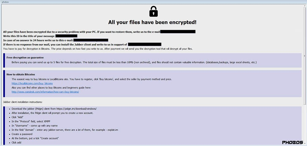 An Example of Ransomware Splash Screen on Desktop