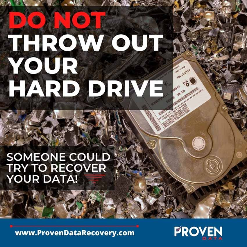 Do not throw out your hard drive