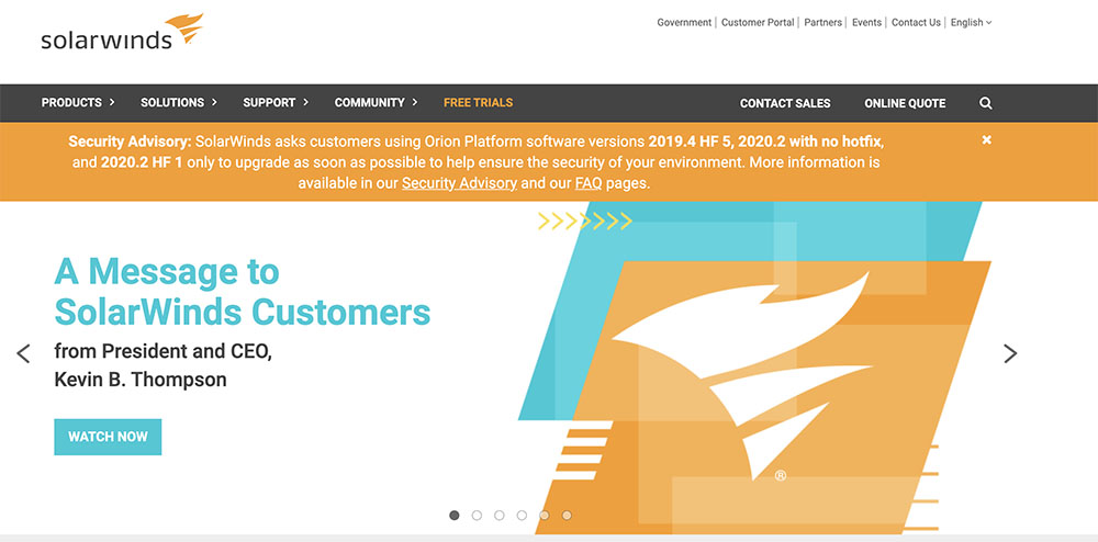 How did the SolarWinds cyber incident occur