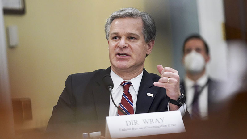 Christopher Wray Ransomware house committee terrorism